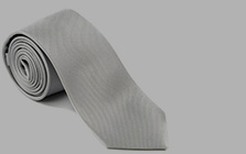 White and Silver Ties
