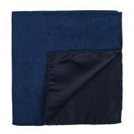 Darkest Blue Suede Pocket Square #AB-TPH1006/14