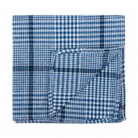 Regatta Blue Check Pocket Square #AB-TPH1007/2