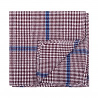 Burgundy Check Pocket Square #AB-TPH1007/3