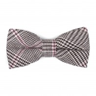 Brown Check Bow Tie #AB-BB1007/4