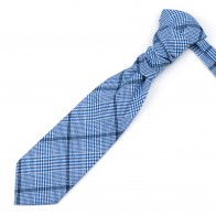 Regatta Blue Check Cravat #AB-WCR1007/2
