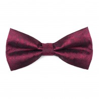 Ruby Wine Floral Bow Tie #AB-BB1012/6