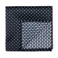 Black Polka Dot Pocket Square #AB-TPH1018/1
