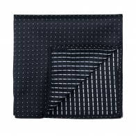 Black Fine Polka Dot Pocket Square #AB-TPH1017/1