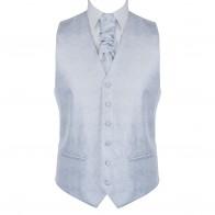 Glacier Grey Floral Waistcoat #AB-WWA1012/1