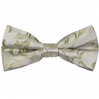 Emerald Green Swirl Leaf Wedding Bow Tie #AB-BB1000/12