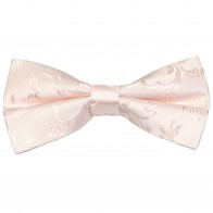 Ivory Bridal Blush Swirl Leaf Wedding Bow Tie #AB-BB1000/13