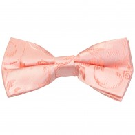 Peach Swirl Leaf Wedding Bow Tie #AB-BB1000/7