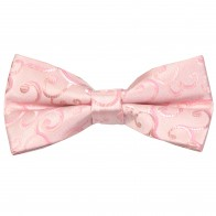 Light Pink Royal Swirl Wedding Bow Tie #AB-BB1001/3