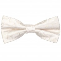 Ivory Royal Swirl Wedding Bow Tie #AB-BB1001/6