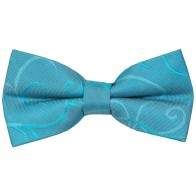 Turquoise Modern Scroll Wedding Bow Tie #AB-BB1002/2