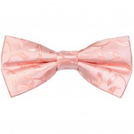 Peach Vintage Vine Wedding Bow Tie #AB-BB1004/3