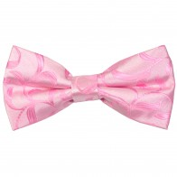 Pink Vintage Vine Wedding Bow Tie #AB-BB1004/4