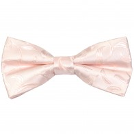 Ivory Bridal Blush Vintage Vine Wedding Bow Tie #AB-BB1004/7
