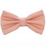 Peach Shantung Wedding Bow Tie #BB1867A/1