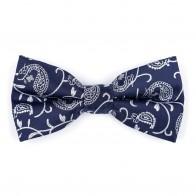 Moonlight Navy Budding Paisley Bow Tie #AB-BB1003/7