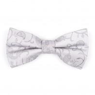 Silver Budding Paisley Bow Tie #AB-BB1003/8