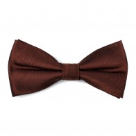Chocolate Brown Shantung Bow Tie #AB-BB1005/19