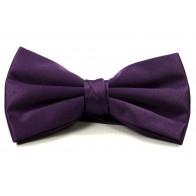 Dark Purple Satin Bow Tie #BB1847/6