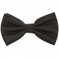 Black Shantung Wedding Bow Tie #BB1864/1