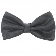 Grey Shantung Wedding Bow Tie #BB1865/1