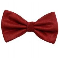 Red Shantung Wedding Bow Tie #BB1865/3
