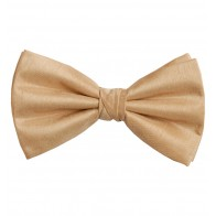 Straw Yellow Shantung Wedding Bow Tie #BB1865/6 #LAST STOCK