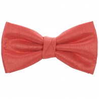 Coral Shantung Wedding Bow Tie #BB1867A/5