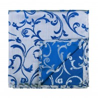 Blue Swirl Leaf Pocket Square #AB-TPH1000/18