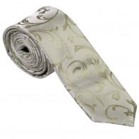 Emerald Green Swirl Leaf Slim Wedding Tie #AB-C1000/12