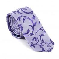 Purple Swirl Leaf Slim Tie #AB-C1000/19