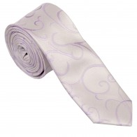 Lilac Modern Scroll Slim Wedding Tie #AB-C1002/1