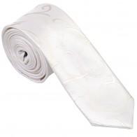 Ivory Modern Scroll Slim Wedding Tie #AB-C1002/4