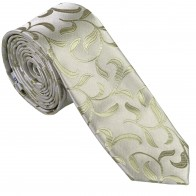 Emerald Green Vintage Vine Slim Wedding Tie #AB-C1004/6