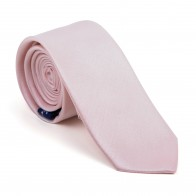 Peach Dust Shantung Slim Tie #AB-C1005/12