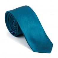 Deep Teal Shantung Slim Tie #AB-C1005/14