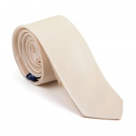 Butter Cream Shantung Slim Tie #AB-C1005/4