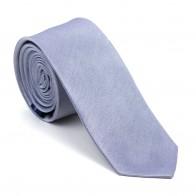 Mid Silver Shantung Slim Tie #AB-C1005/6