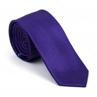 Plum Purple Shantung Slim Tie #AB-C1005/8