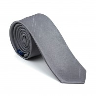 Dark Grey Shantung Slim Tie #AB-C1005/9