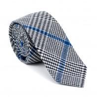 Licorice Black Check Slim Tie #AB-C1007/1