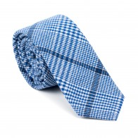 Regatta Blue Check Slim Tie #AB-C1007/2