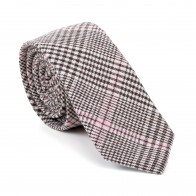 Brown Check Slim Tie #AB-C1007/4
