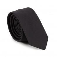 Black 100% Wool Tuxedo Slim Tie #AB-C1011/1
