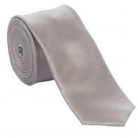 Silver Skinny Shantung Wedding Tie #C1866/2