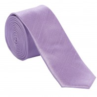 Lilac Shantung Tie with Matching Pocket Hankie