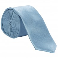 Sky Blue Shantung Tie with Matching Pocket Hankie