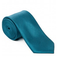 Teal Shantung Tie with Matching Pocket Hankie