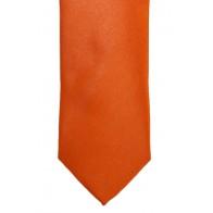 Orange Slim Satin Tie #C1885/4